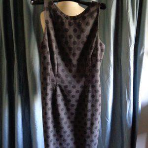 ARMANI Polka Dot Sheath Dress Black Italy EUC